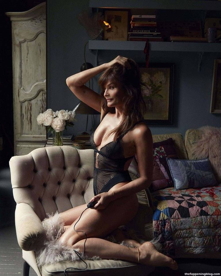 Helena Christensen Sexy Lingerie 3