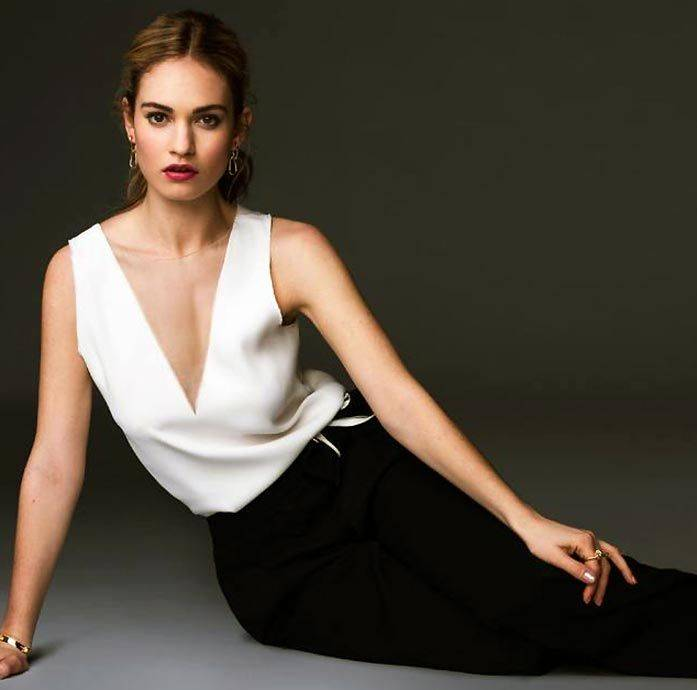 Lily James Nude Sexy 36