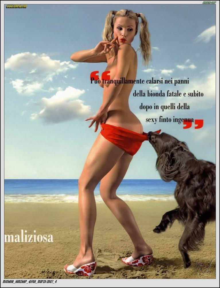 Michelle Hunziker Nude Sexy Topless 74
