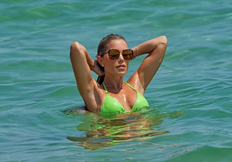 Sylvie Meis on Beach Bikini 1