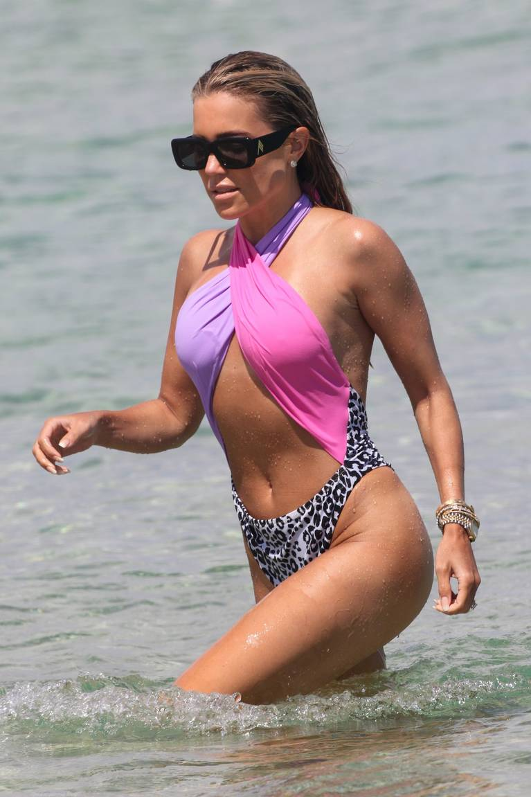 Sylvie Meis on Beach 50